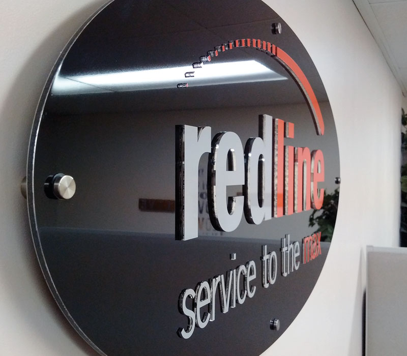 Redline Office Supplies Dimensional Lettering Sign