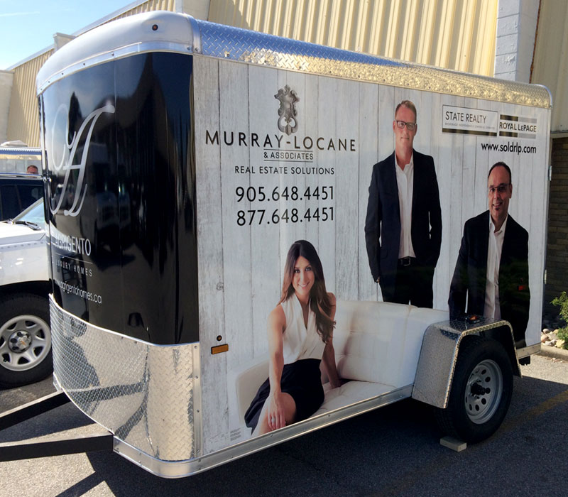 Murray Locane & Associates Royal LePage Trailer Wrap