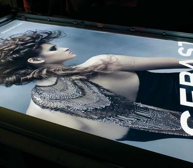 Large Format Backlit Print In Lightbox